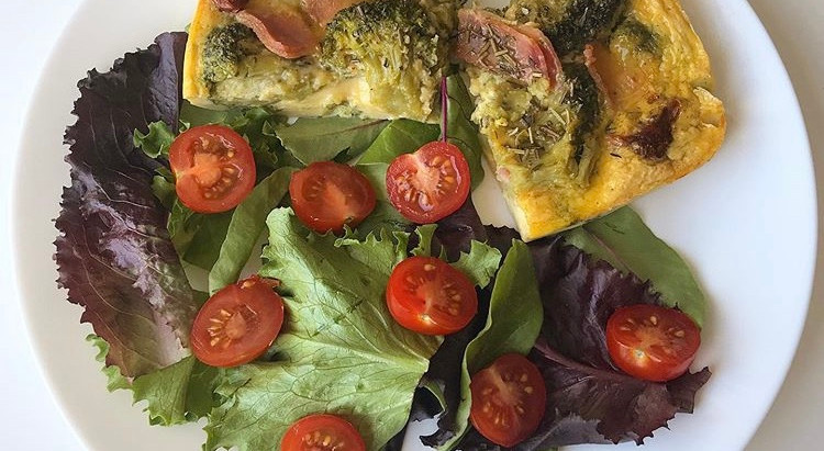 Frittata jambon, brocolis et tomates séchées