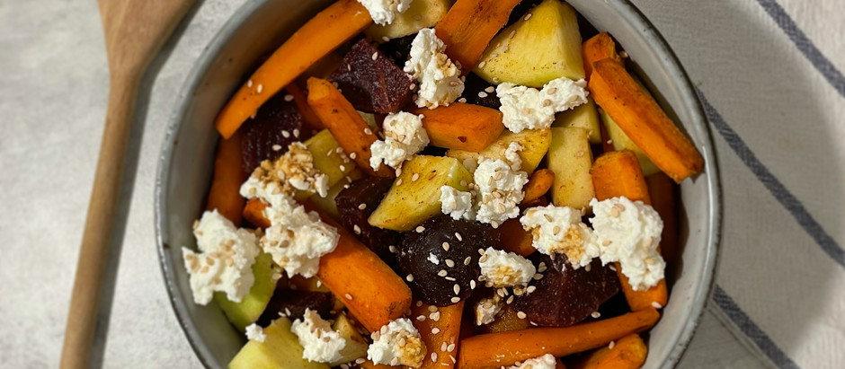 Salade de carottes rôties