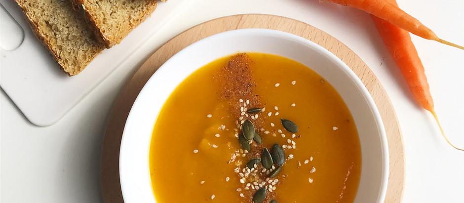 Soupe de patates douces et carottes