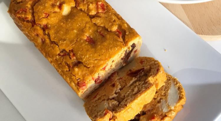 Cake aux poivrons et mozzarella