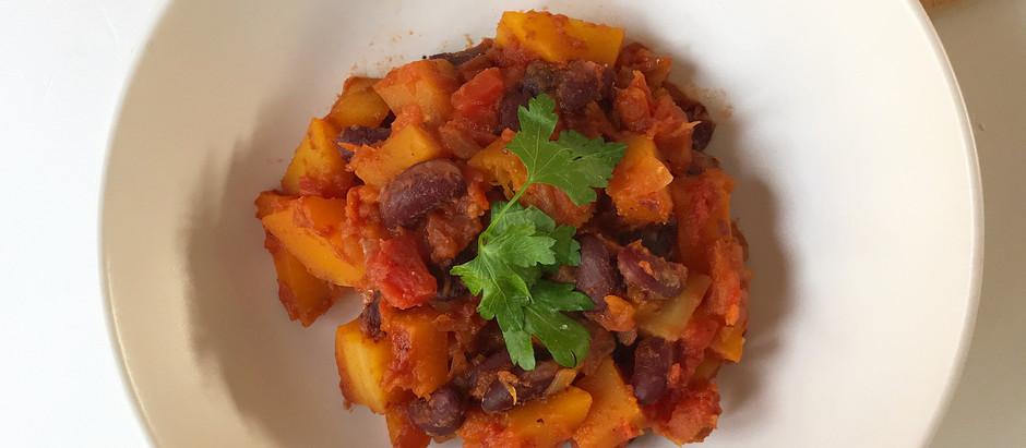 Chili végétarien au butternut