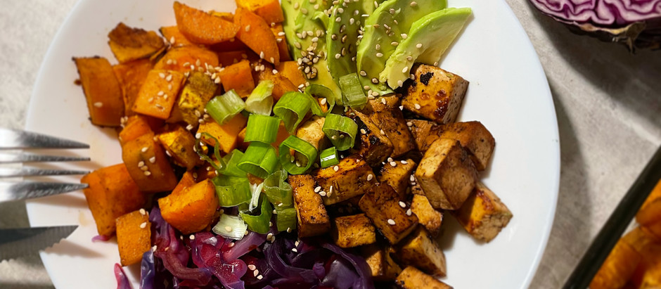 Bowl au tofu grillé