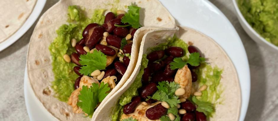 Tacos mexicain au poulet et coriandre