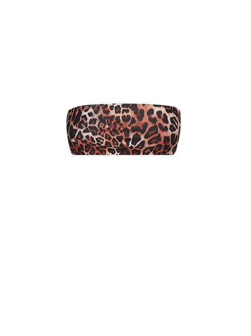 Bandeau Bikini Top - Leopard