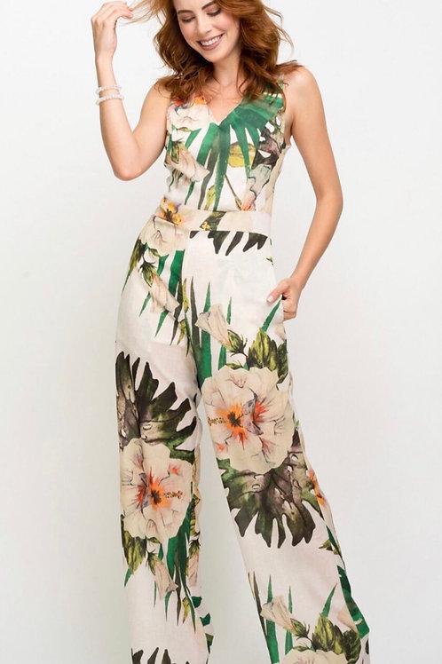 Jumpsuit - Tropical Garden Print