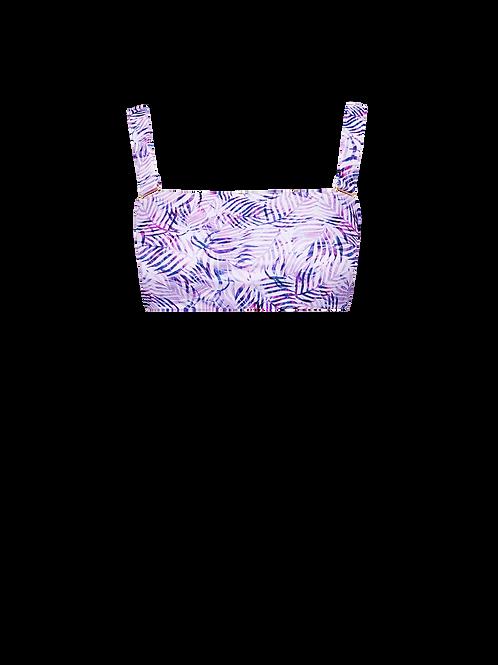 Bandeau Bikini Top - Lilac Palms