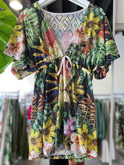 Swim Cover Up - Tropical Garden Print