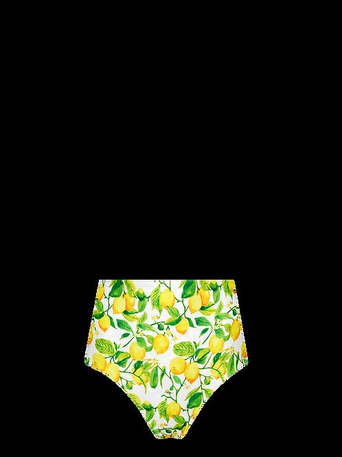 High Waist Bikini Bottom - Limoni/Maolica