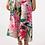 Thumbnail: Capri-style Pants - Hibiscus Print