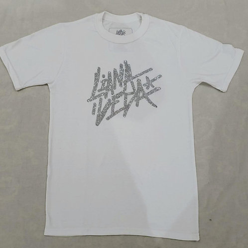 LV White T-Shirt - Glittered