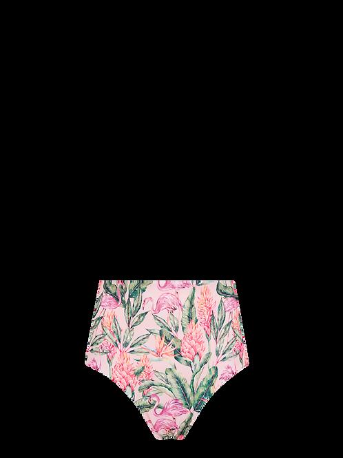 High Waist Bikini Bottom - Welcome to Miami/Mint & Blush Dots