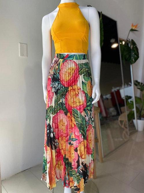 Pleated Skirt - Tucan Print