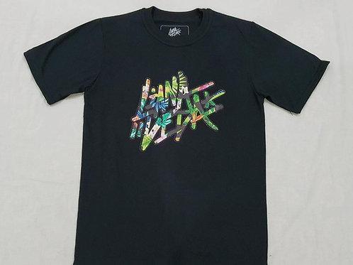 LV Hawaiian Floral T-Shirt - Glittered