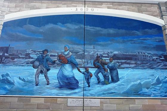 The Flight of the Garner Family mural-mi