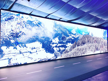 Panorama LED-Wand für die Knaus-Tabbert Händlertage 2019