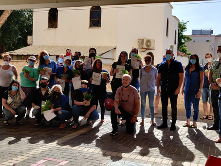 Akko Educators' Kibbutz Receive Official Commendation from City Hall for Action During Coronavirus