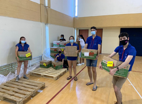 Youth Movement Gap Year Participants Pack and Distribute Care Packages for Israel's Needy