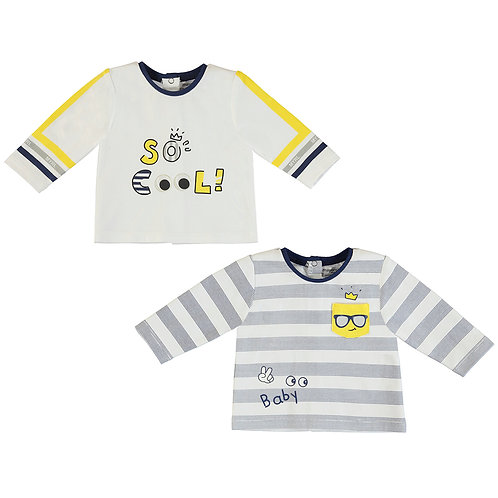 Mayoral-Lot de 2 t-Shirts M/L-1038
