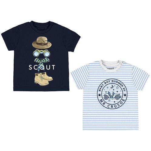 Mayoral-Set 2 T-Shirts M/CRayés-1047