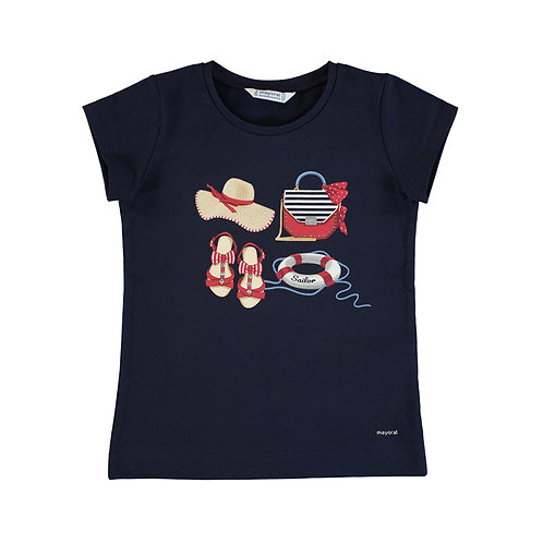 Mayoral-T-shirt m/c sérigraphie-3017