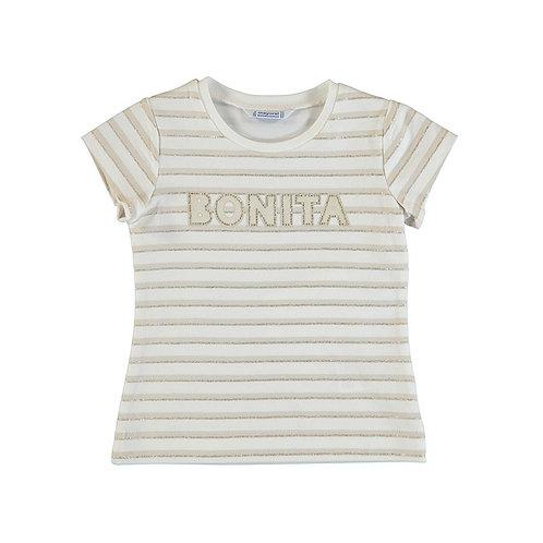 T-shirt m/c rayures paillettes-Mayoral-3011
