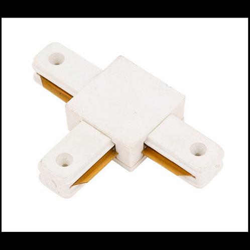 Conector tipo T para carril monofásico Blanco y Negro