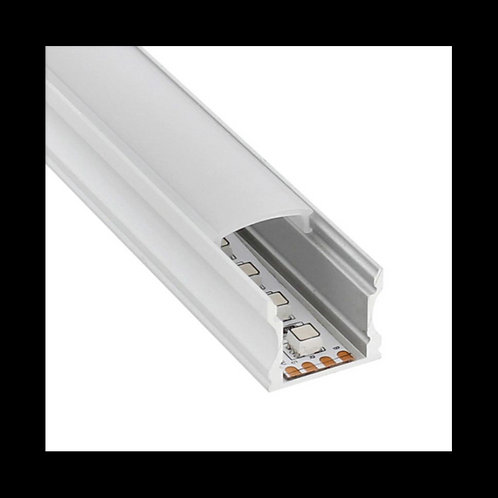 Perfil aluminio U doble altura 2m