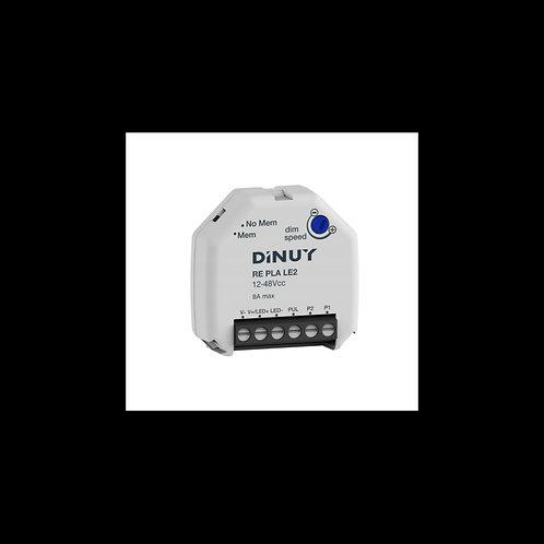 Dimmer Regulador DINUY RE PLA LE2 para tiras Led de 12V-48V