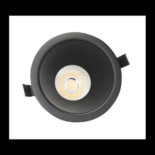 Aro Empotrable para AR111 TrueColors Circular Negro Mate