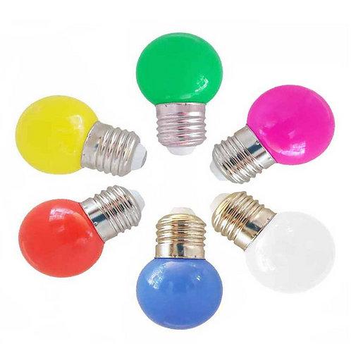 Bombilla led E27 1w colores