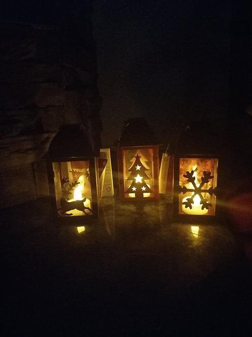 Pequeños farolillos con luz