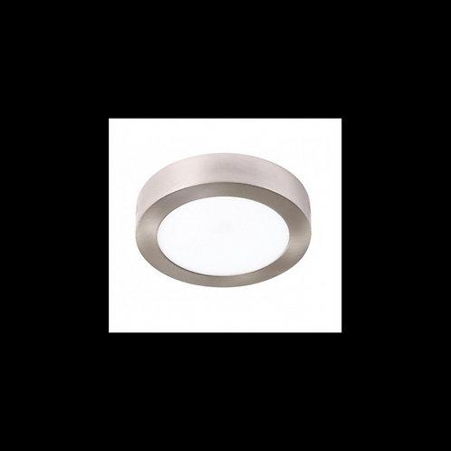 Plafón superficie circular Níquel 24w 300mm