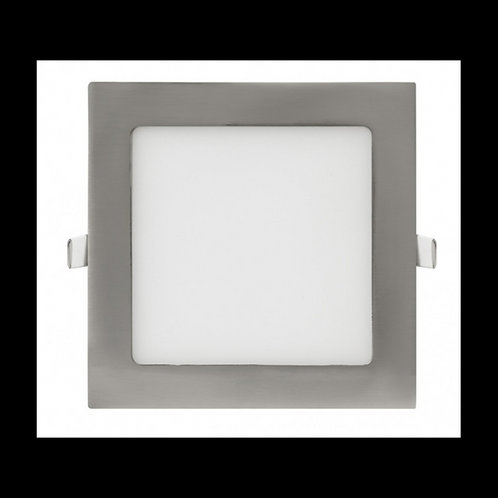 Downlight panel cuadrado Níquel 12w