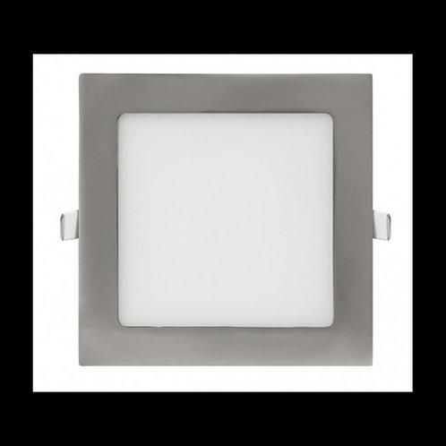 Downlight panel cuadrado Níquel 9w