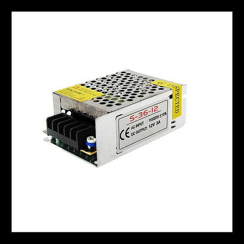 Fuente de alimentación para tiras LED 36W 12Vdc