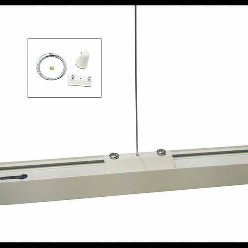 KIT de suspensión para carril trifásico Blanco y Negro
