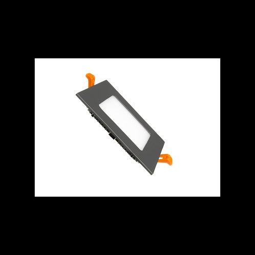 Downlight panel cuadrado Negro 6w