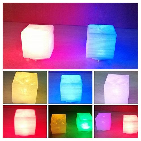 Cubo con luz de color led