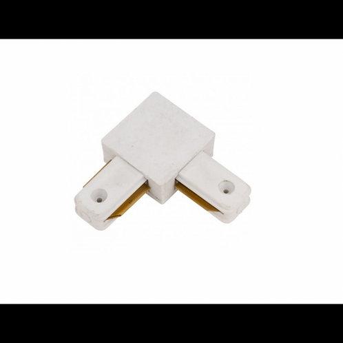 Conector tipo L para carril monofásico Blanco y Negro