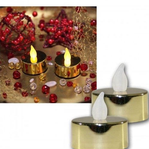 Mini velas blanca, roja, dorada ó plateada