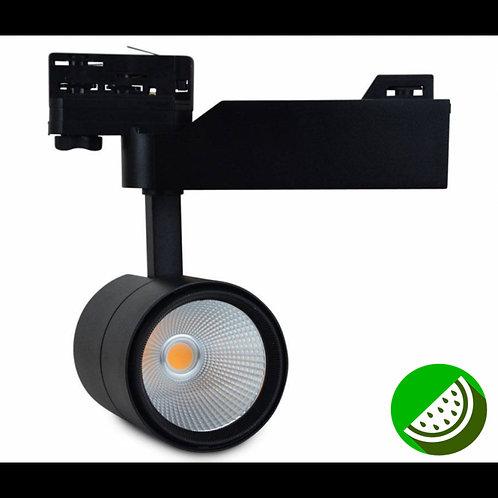 Foco LED para carril Tarf 30W Negro