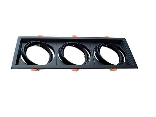 Carcasa Orientable AR111/QR111 triple negra