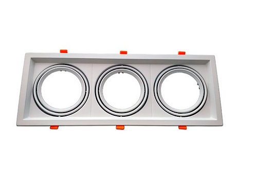 Carcasa Orientable AR111/QR111 triple blanca
