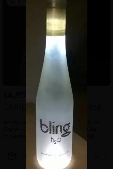 Botella lámpara Bling