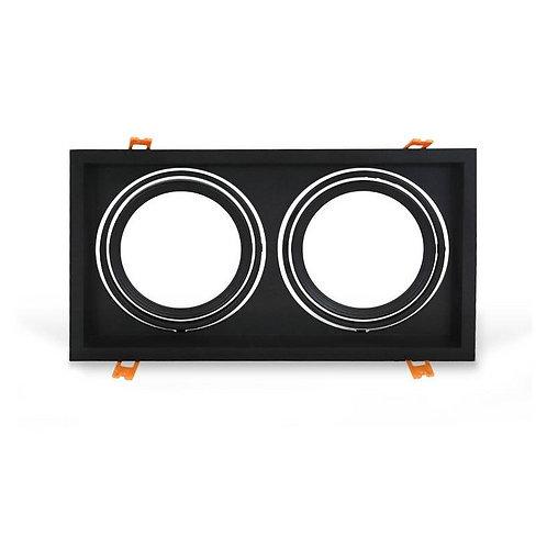 Carcasa Orientable AR111/QR111 doble negra