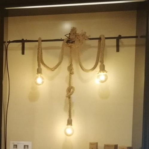 Montaje de 3 lámparas de cuerda