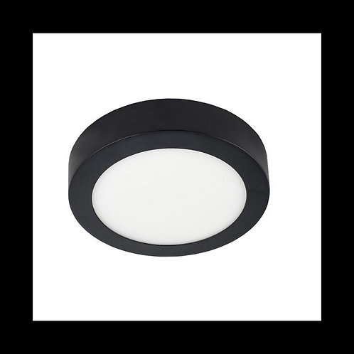Plafón superficie circular Negro 20w 225mm