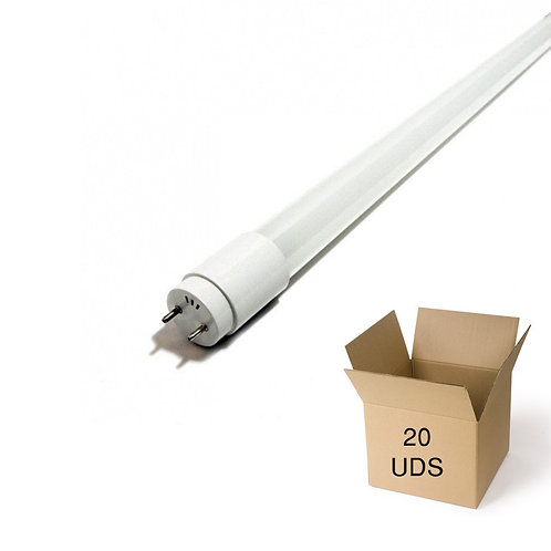 PACK TUBO DE LED T8 600 MM 9W CRISTAL. CAJA 20 UDS.