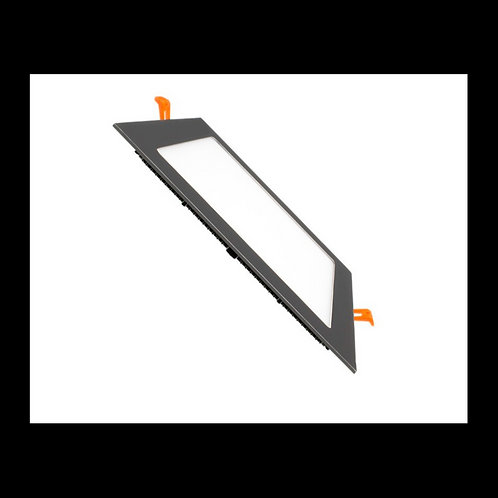 Downlight panel cuadrado Negro 18w