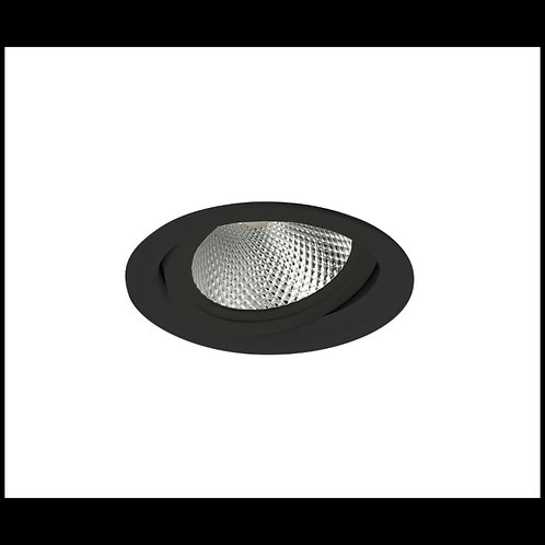 Aro basculante AR111 TrueColors Circular negro mate